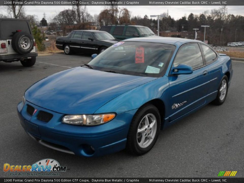 daytona blue metallic 1998 pontiac grand prix daytona 500 edition gtp coupe photo 1. Black Bedroom Furniture Sets. Home Design Ideas