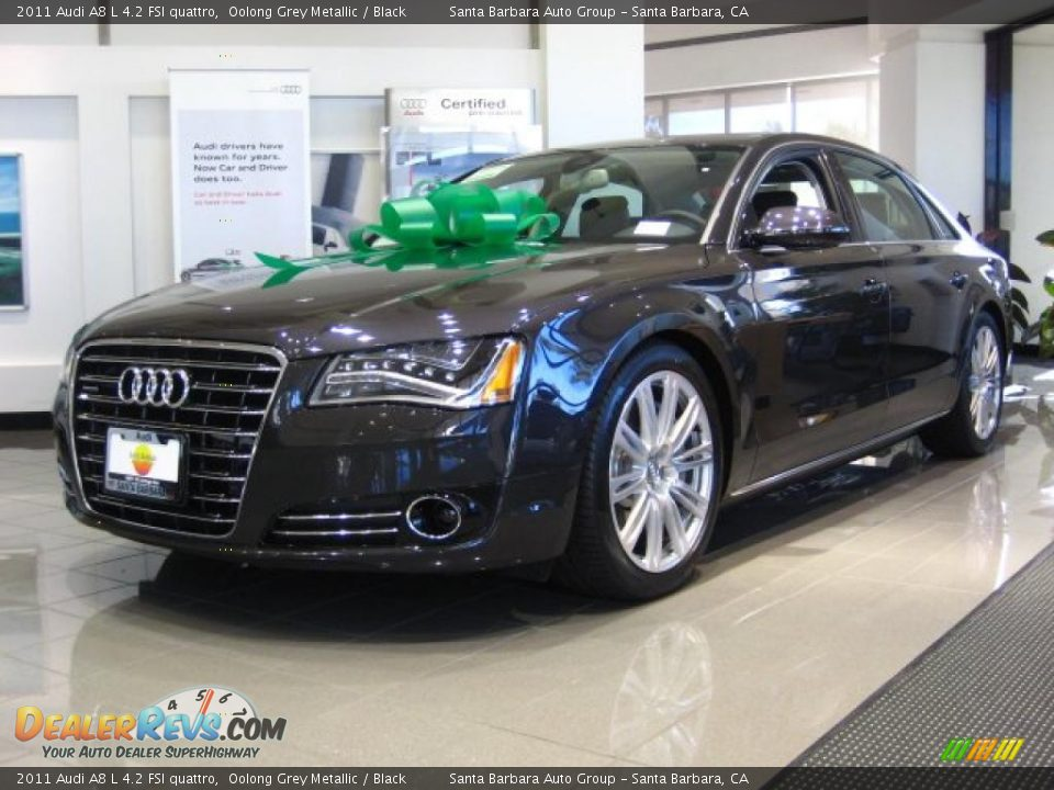 2011 audi a8 l 4 2 fsi quattro oolong grey metallic. Black Bedroom Furniture Sets. Home Design Ideas