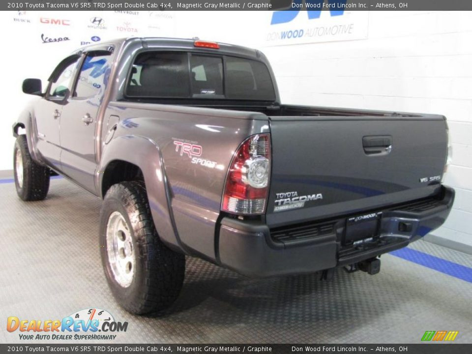 magnetic gray metallic 2010 toyota tacoma v6 sr5 trd sport double cab 4x4 photo 3. Black Bedroom Furniture Sets. Home Design Ideas