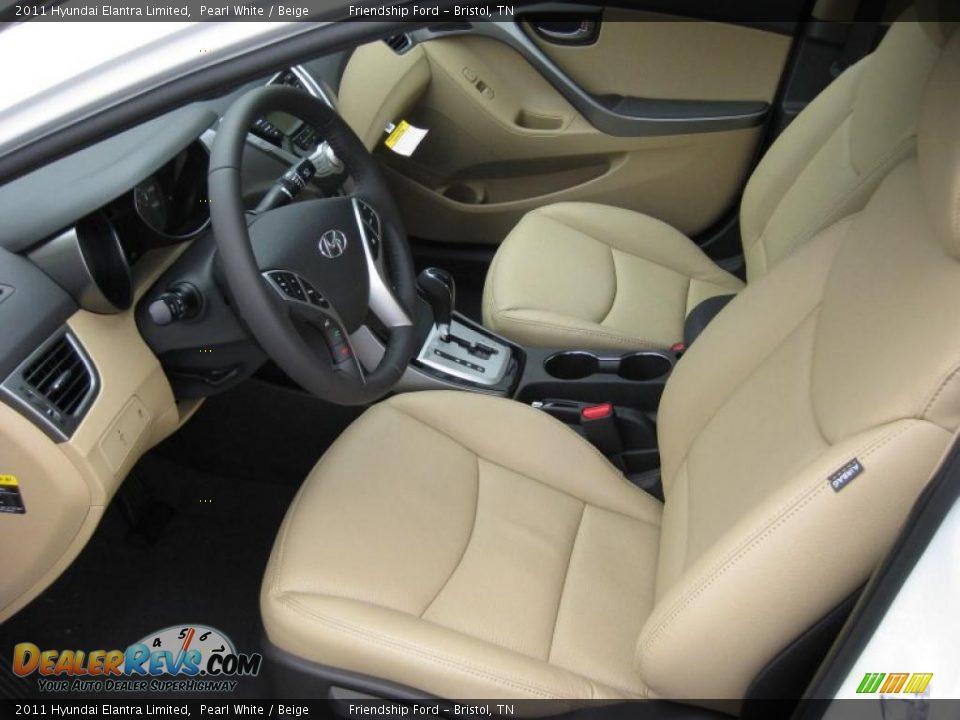 Beige Interior 2011 Hyundai Elantra Limited Photo 12 Dealerrevs Com
