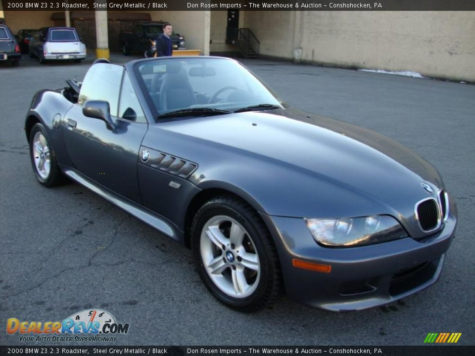 2000 bmw z3 2 3 roadster steel grey metallic black photo. Black Bedroom Furniture Sets. Home Design Ideas