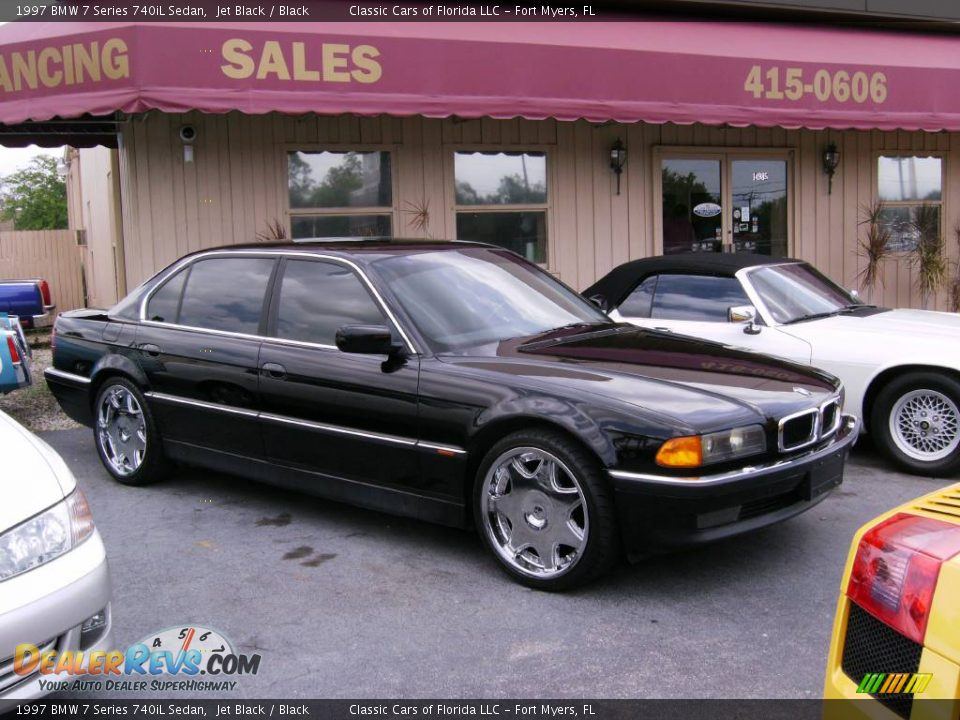1997 bmw 7 series 740il sedan jet black black photo 2. Black Bedroom Furniture Sets. Home Design Ideas