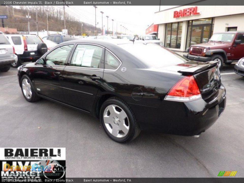 2006 Chevrolet Impala Ss Black Ebony Black Photo 5