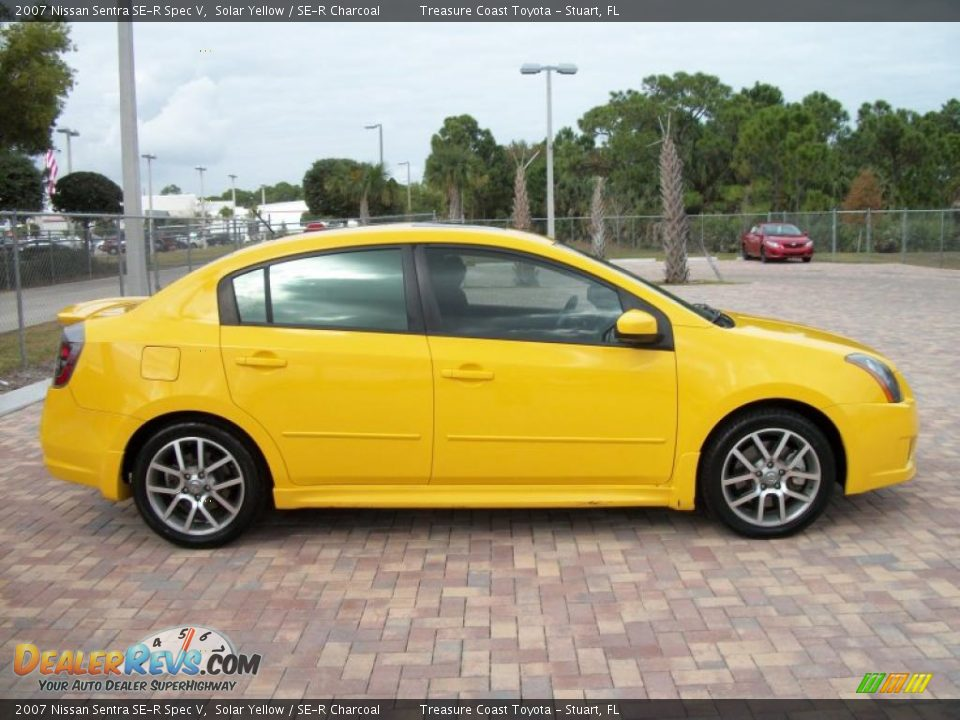 Solar Yellow 2007 Nissan Sentra Se R Spec V Photo 2