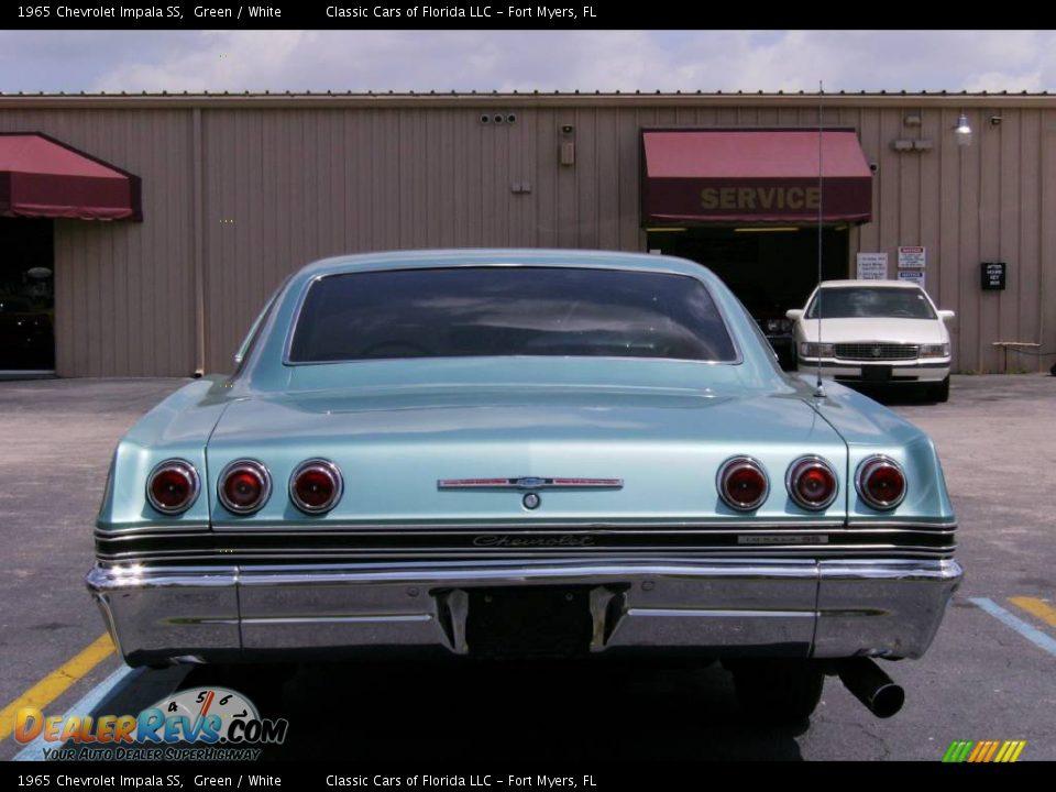 1965 Chevrolet Impala Ss Green White Photo 5