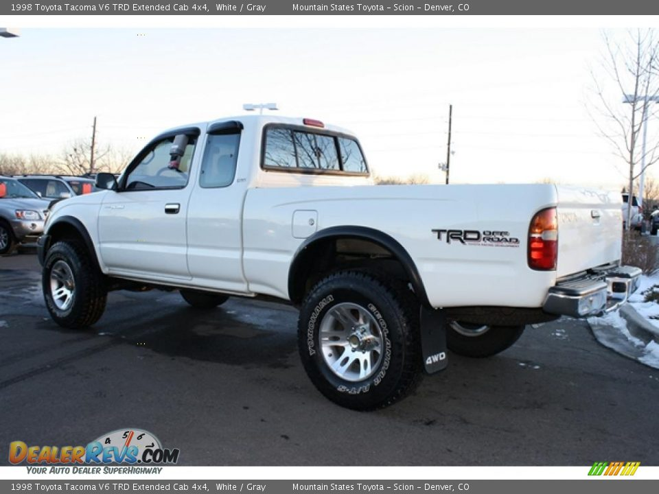 White 1998 Toyota Tacoma V6 TRD Extended Cab 4x4 Photo #4