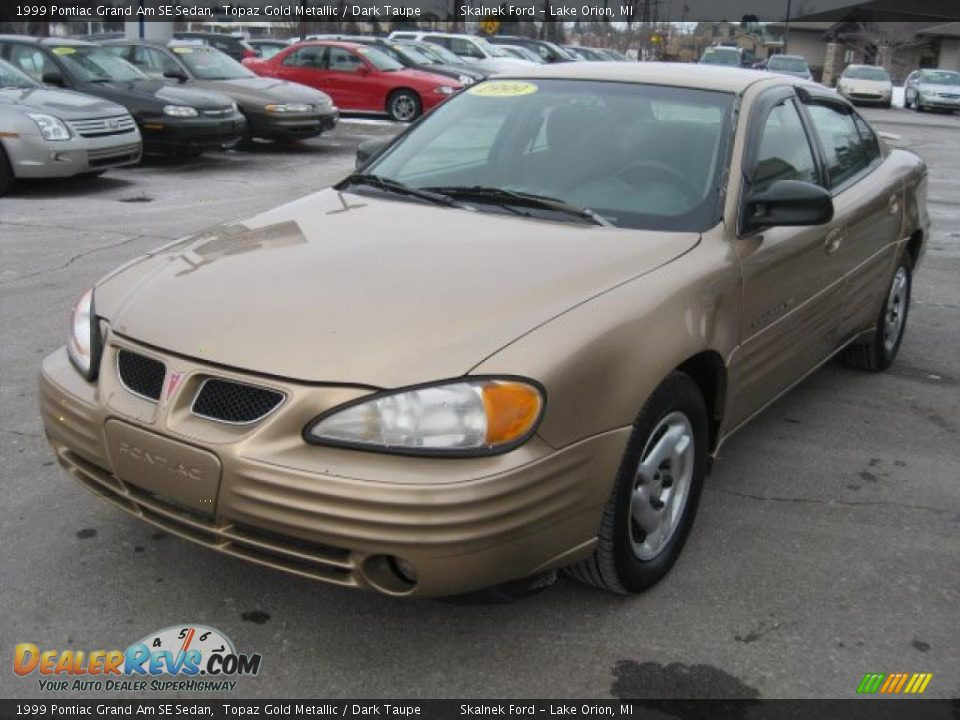 1999 pontiac grand am se sedan topaz gold metallic dark taupe photo 11 dealerrevs com
