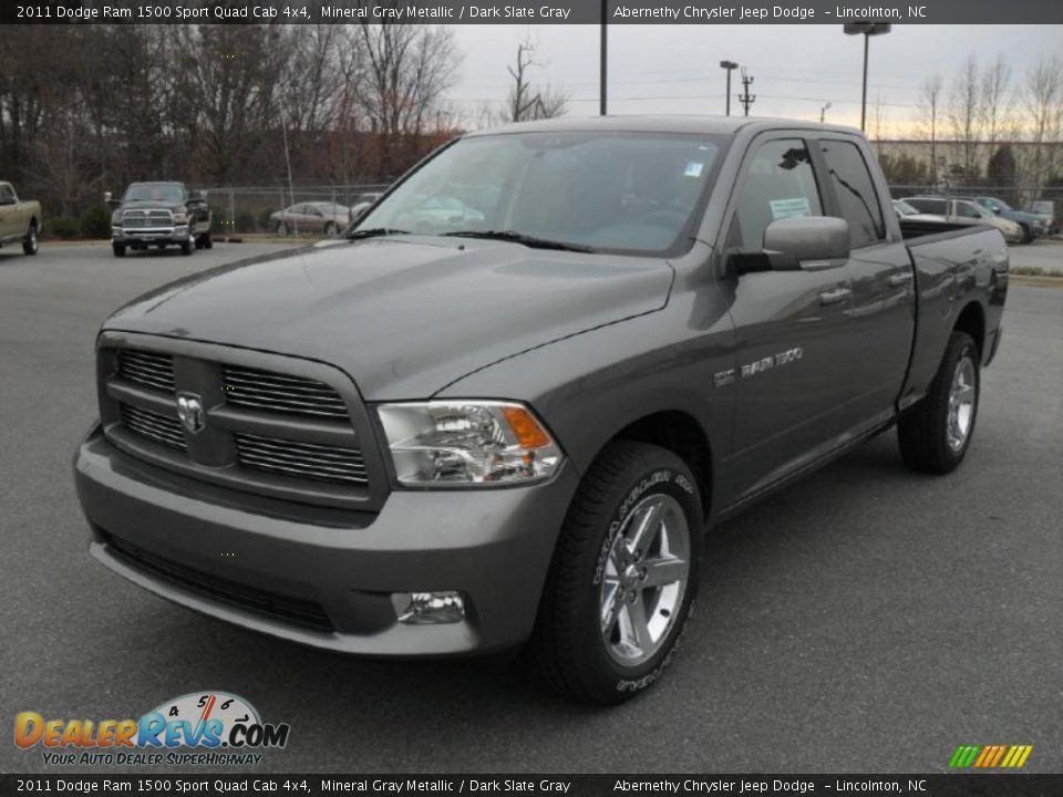 2011 Dodge Ram 1500 Sport Quad Cab 4x4 Mineral Gray Metallic / Dark