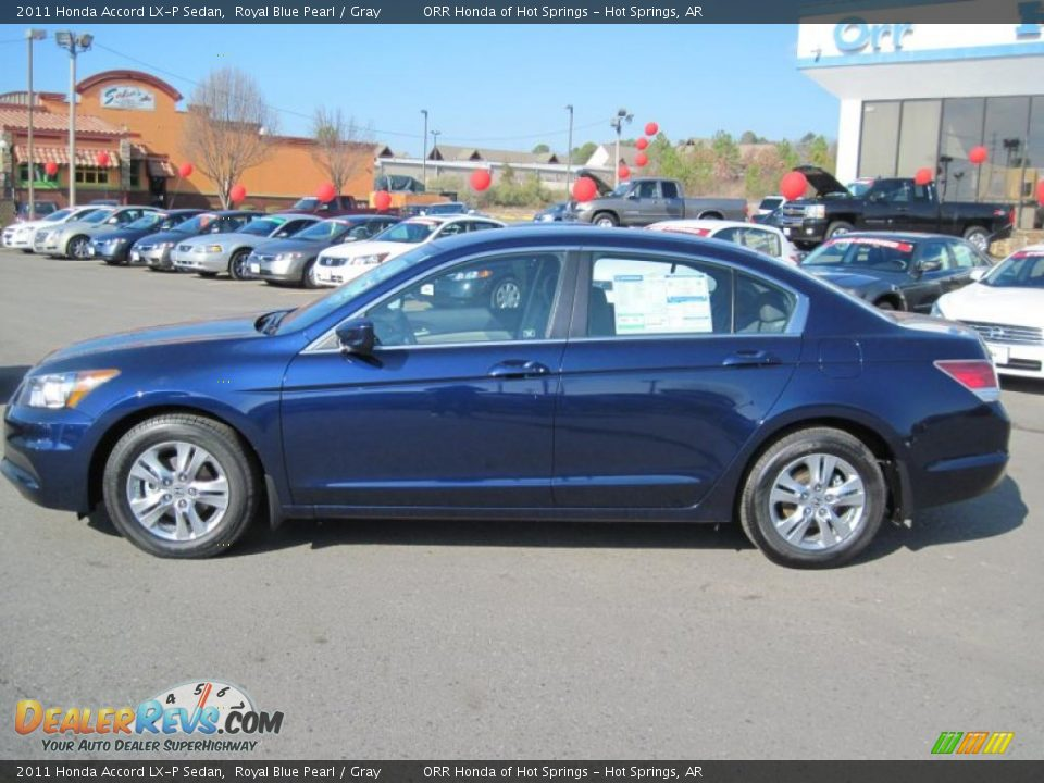2011 Honda Accord Lx P Sedan Royal Blue Pearl Gray Photo 2 Dealerrevs Com