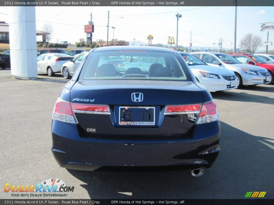 2011 Honda Accord Lx P Sedan Royal Blue Pearl Gray Photo