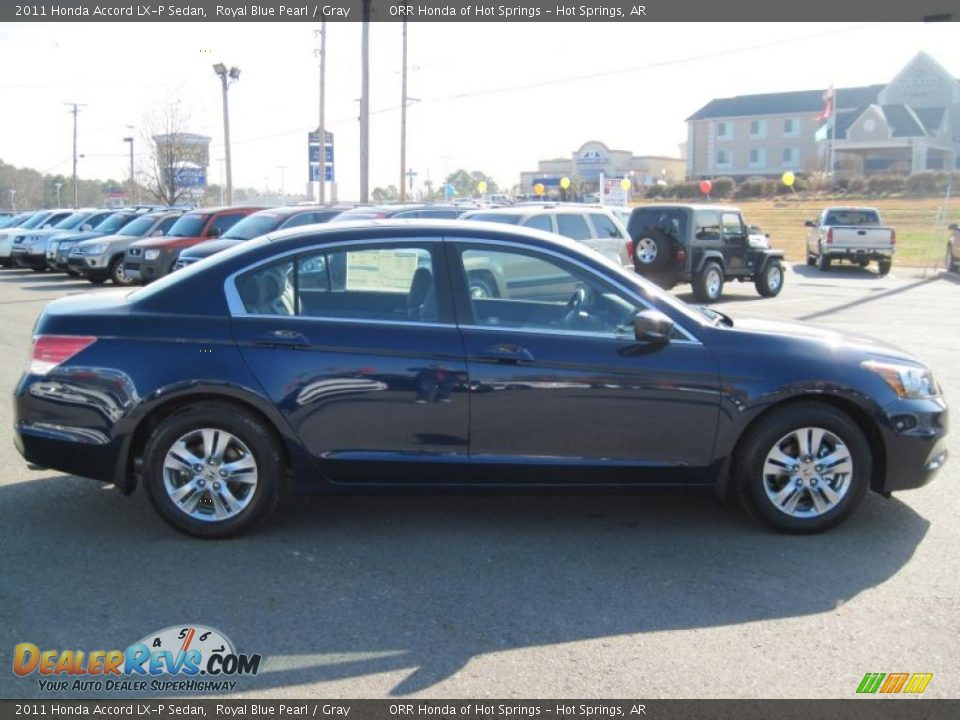 2011 Honda Accord Lx P Sedan Royal Blue Pearl Gray Photo 6 Dealerrevs Com
