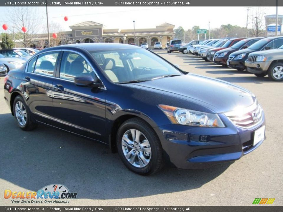2011 Honda Accord Lx P Sedan Royal Blue Pearl Gray Photo