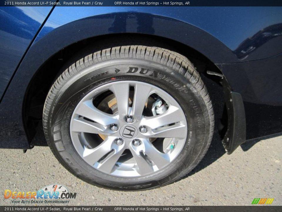 2011 Honda Accord Lx P Sedan Royal Blue Pearl Gray Photo 10 Dealerrevs Com