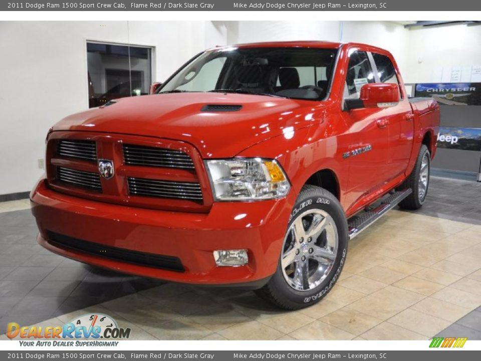 2017 Dodge Ram >> 2011 Dodge Ram 1500 Sport Crew Cab Flame Red / Dark Slate ...