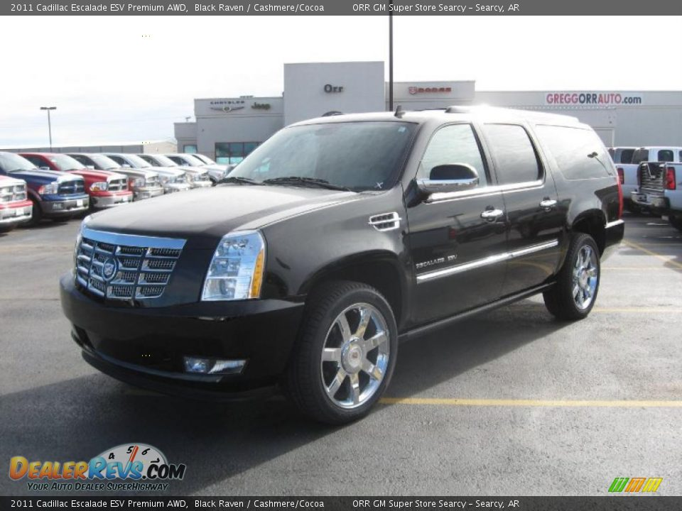 2011 cadillac escalade esv premium awd black raven. Black Bedroom Furniture Sets. Home Design Ideas