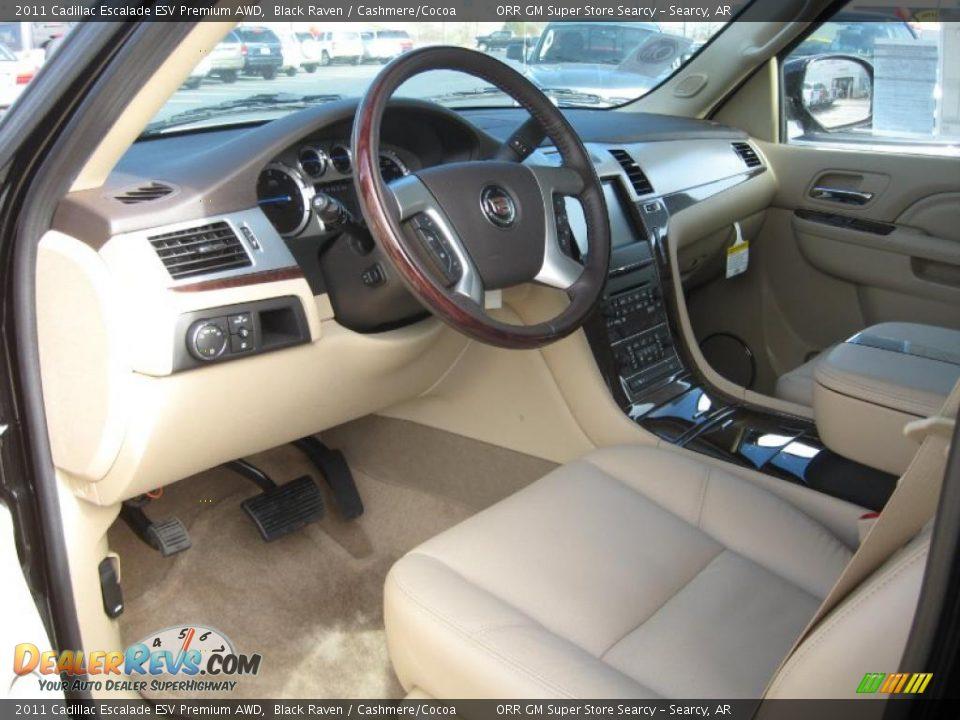 Cashmere Cocoa Interior 2011 Cadillac Escalade Esv Premium Awd Photo 11