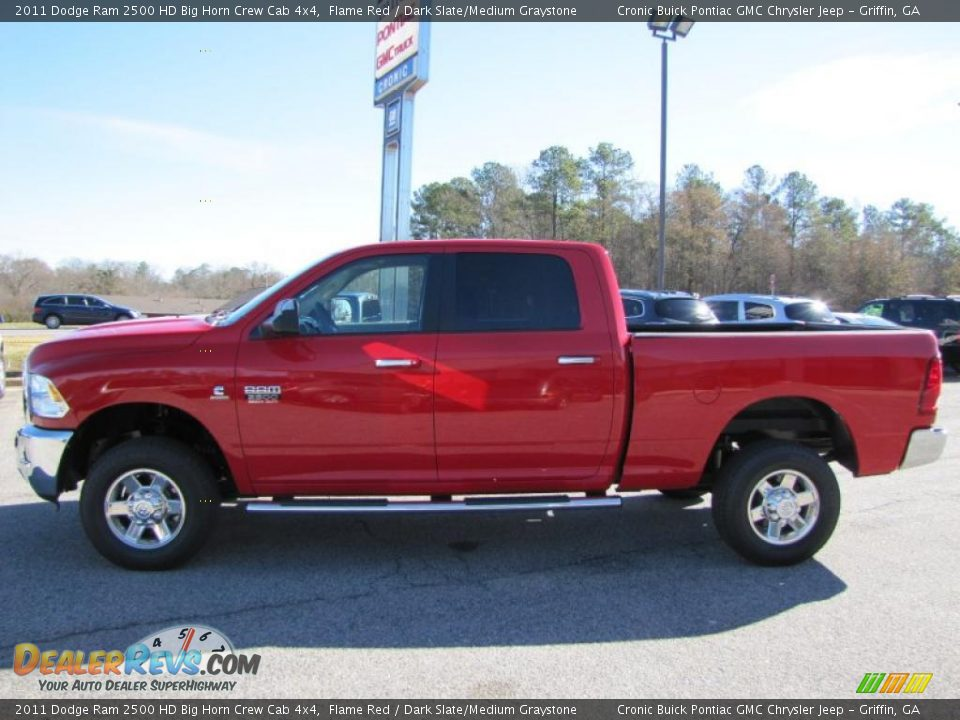 Big Horn Crew Cab 4x4 >> Flame Red 2011 Dodge Ram 2500 HD Big Horn Crew Cab 4x4 Photo #4 | DealerRevs.com
