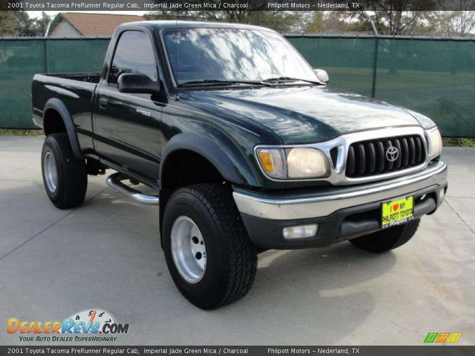 2001 toyota tacoma prerunner regular cab imperial jade green mica charcoal photo 1. Black Bedroom Furniture Sets. Home Design Ideas