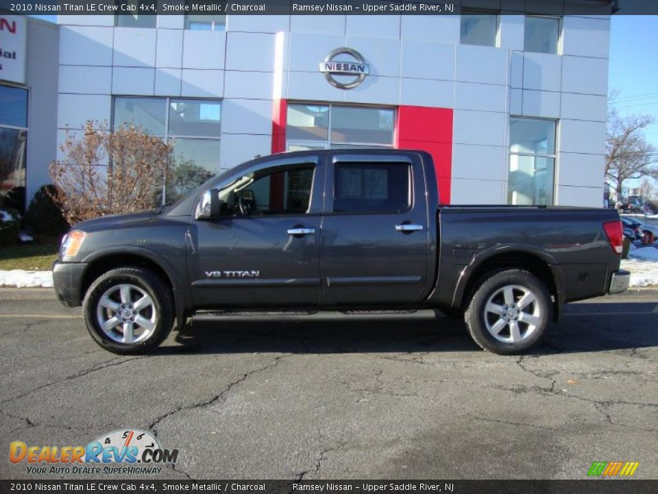 2010 nissan titan le crew cab 4x4 smoke metallic. Black Bedroom Furniture Sets. Home Design Ideas