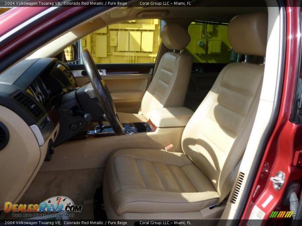 Pure Beige Interior 2004 Volkswagen Touareg V8 Photo 8