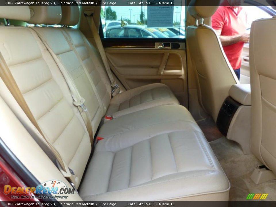 Pure Beige Interior 2004 Volkswagen Touareg V8 Photo 10