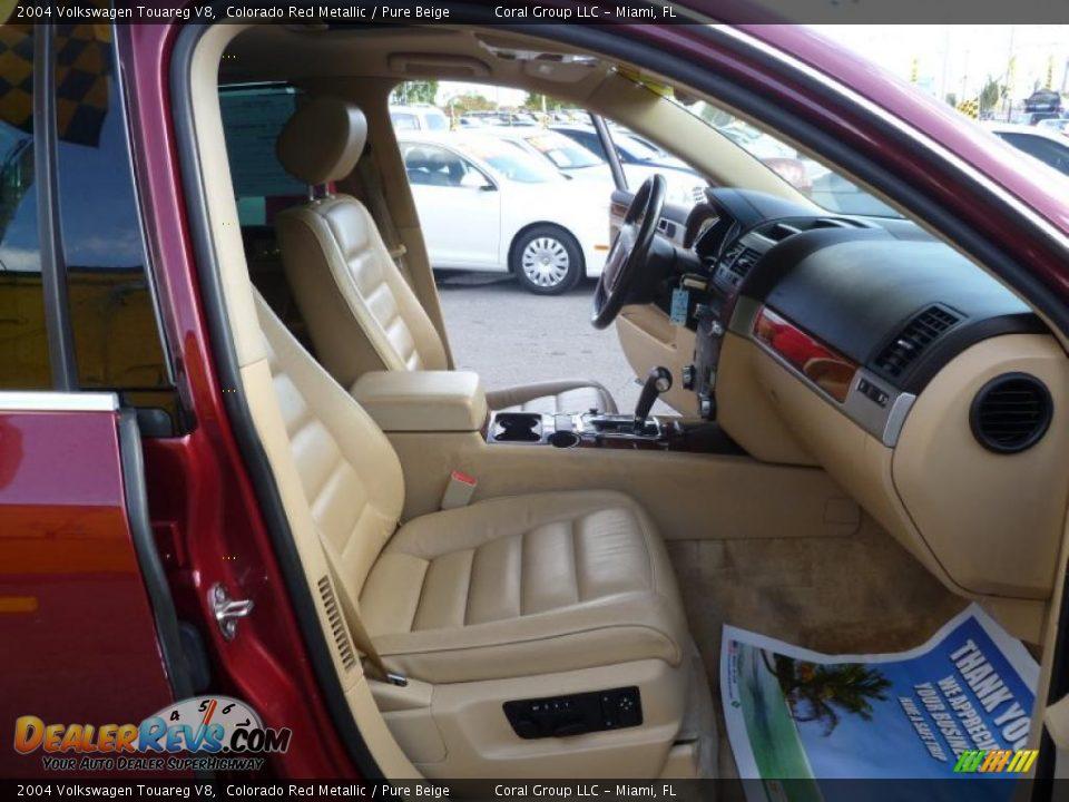 Pure Beige Interior 2004 Volkswagen Touareg V8 Photo 11