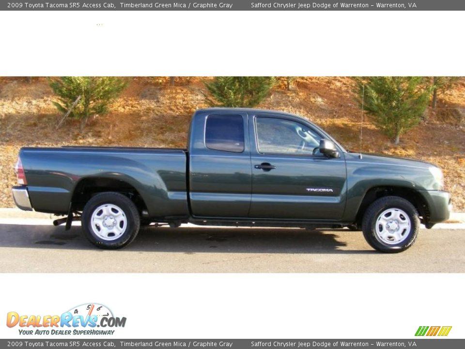 Timberland Green Mica 2009 Toyota Tacoma Sr5 Access Cab