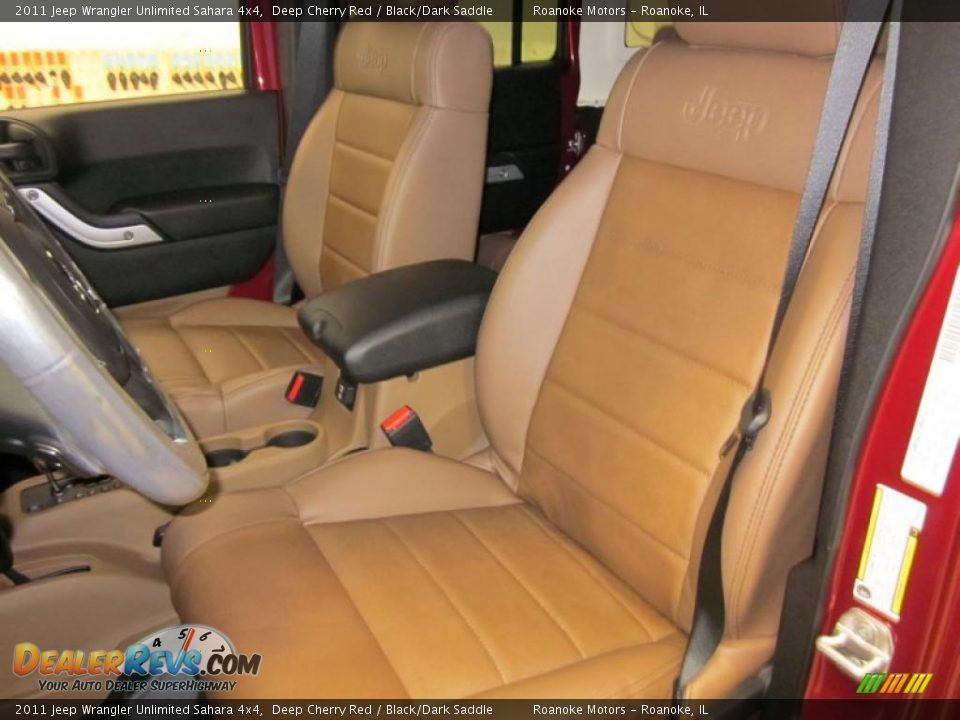 Black Dark Saddle Interior 2011 Jeep Wrangler Unlimited Sahara 4x4 Photo 6
