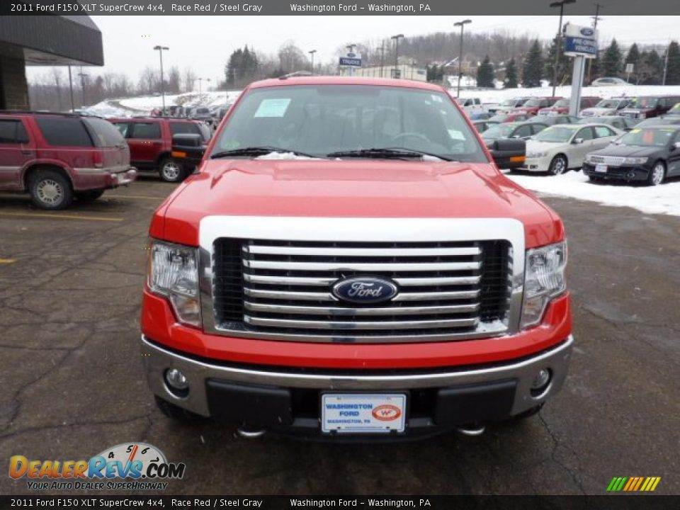 2011 ford f150 xlt supercrew 4x4 race red steel gray photo 7. Black Bedroom Furniture Sets. Home Design Ideas