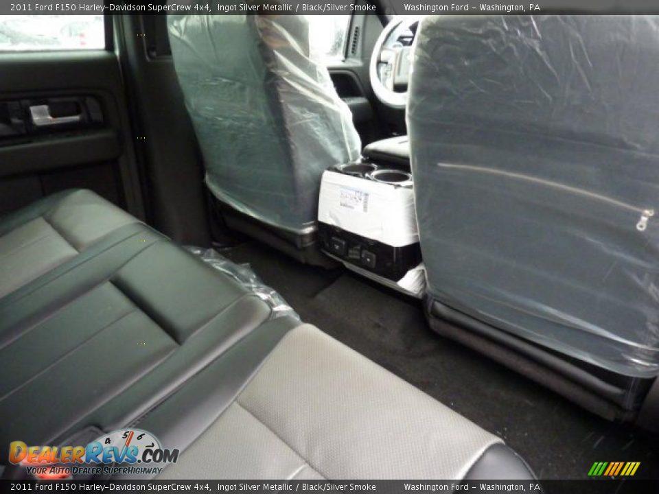 black silver smoke interior 2011 ford f150 harley davidson supercrew 4x4 photo 15. Black Bedroom Furniture Sets. Home Design Ideas