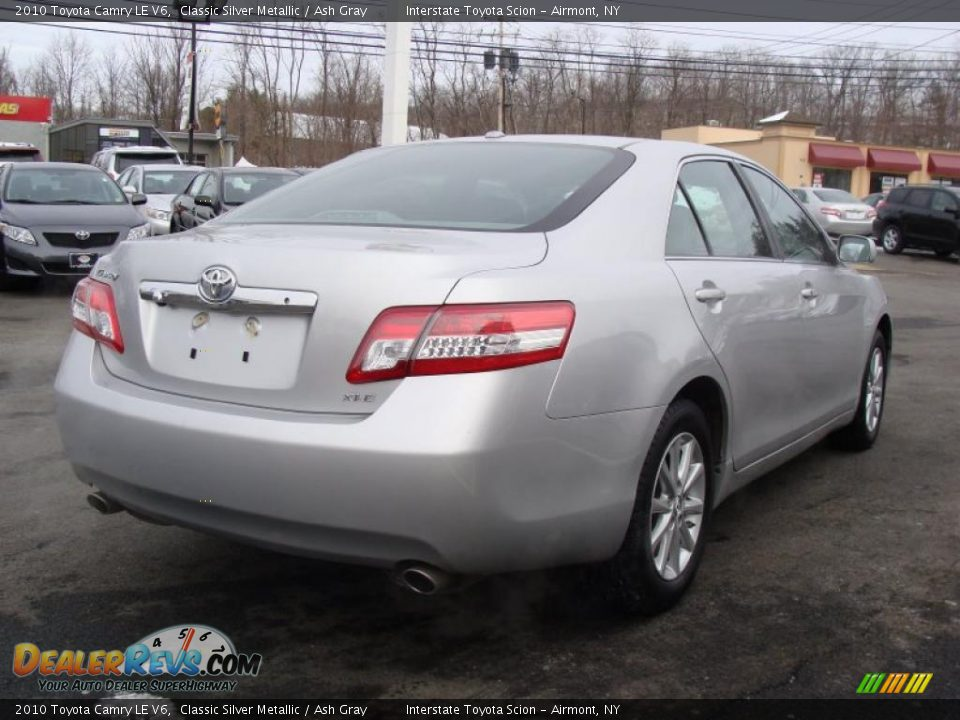 2010 toyota camry le v6 classic silver metallic ash gray photo 4. Black Bedroom Furniture Sets. Home Design Ideas