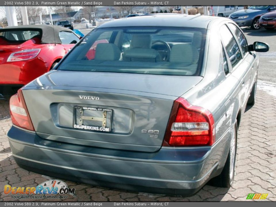 2002 volvo s80 2 9 platinum green metallic sand beige. Black Bedroom Furniture Sets. Home Design Ideas