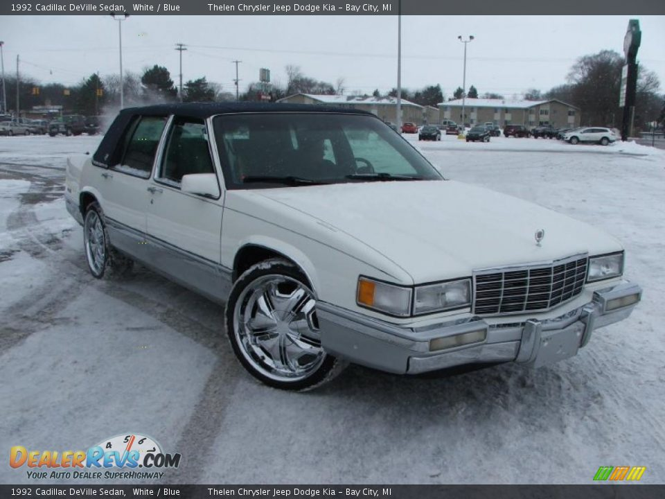 1992 cadillac deville sedan white blue photo 3. Cars Review. Best American Auto & Cars Review