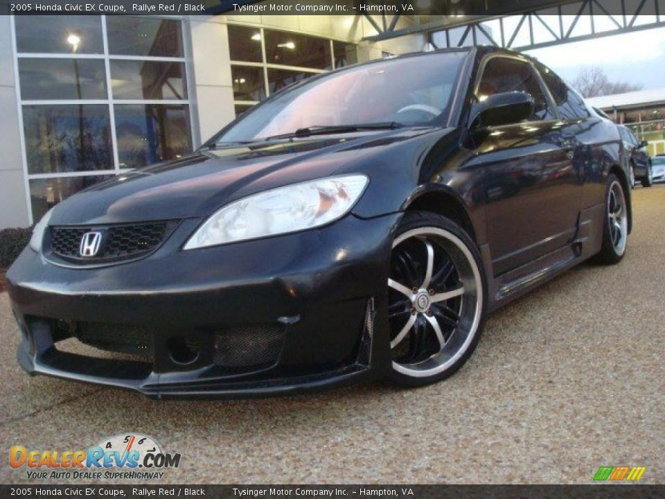 2005 honda civic ex coupe rallye red black photo 1. Black Bedroom Furniture Sets. Home Design Ideas