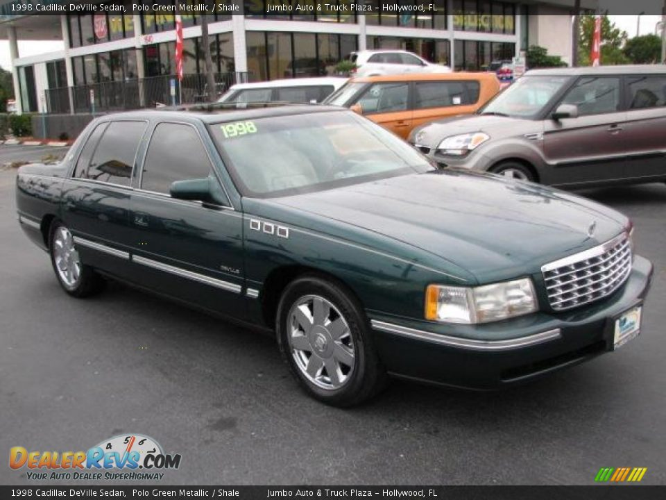 1998 cadillac deville sedan polo green metallic shale photo 1 dealerrevs. Cars Review. Best American Auto & Cars Review