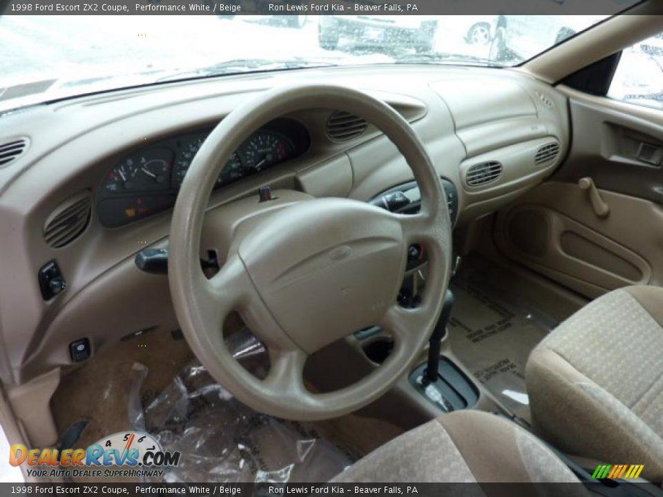beige interior 1998 ford escort zx2 coupe photo 13 dealerrevs com dealerrevs com