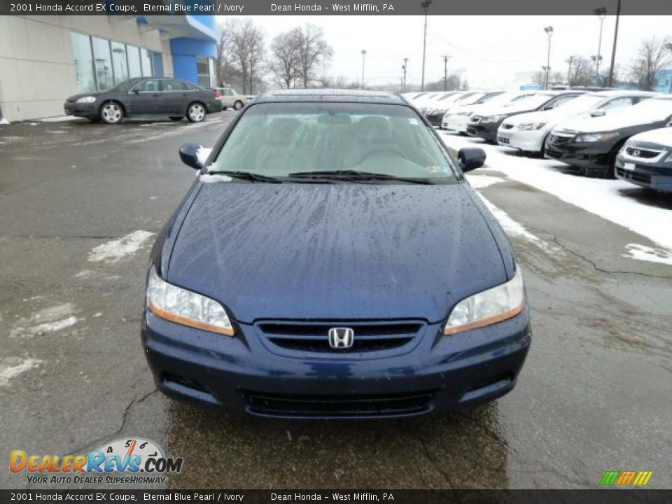 2001 honda accord ex coupe eternal blue pearl ivory photo 6. Black Bedroom Furniture Sets. Home Design Ideas