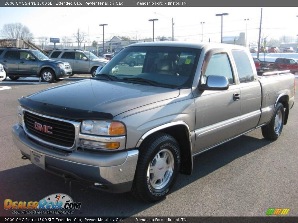 2000 gmc sierra 1500 slt extended cab pewter metallic oak photo 2. Black Bedroom Furniture Sets. Home Design Ideas