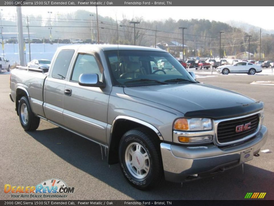 2000 gmc sierra 1500 slt extended cab pewter metallic oak photo 4. Black Bedroom Furniture Sets. Home Design Ideas