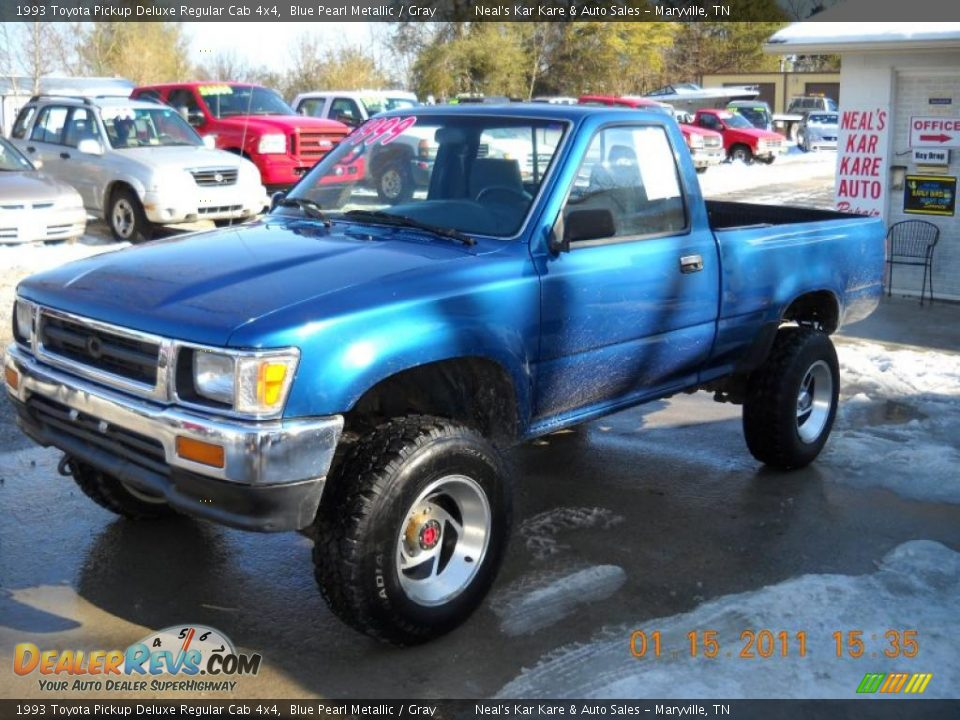 1993 Toyota Pickup Deluxe Regular Cab 4x4 Blue Pearl