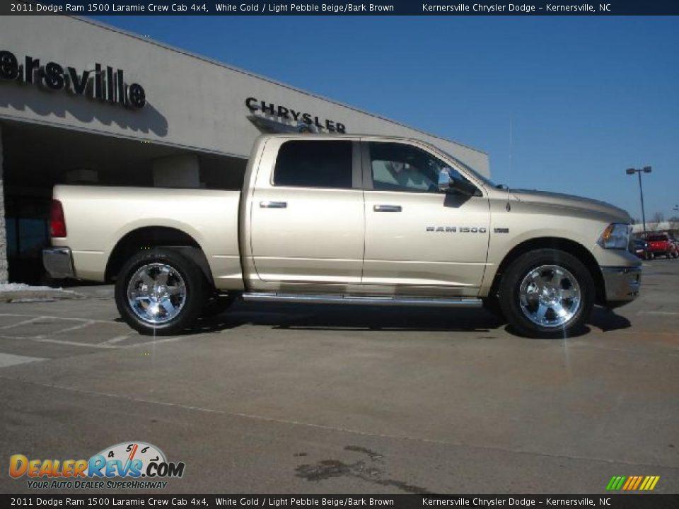 2011 Dodge Ram 1500 Laramie Crew Cab 4x4 White Gold