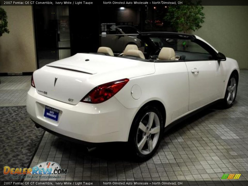 2007 pontiac g6 gt convertible ivory white light taupe photo 8. Black Bedroom Furniture Sets. Home Design Ideas
