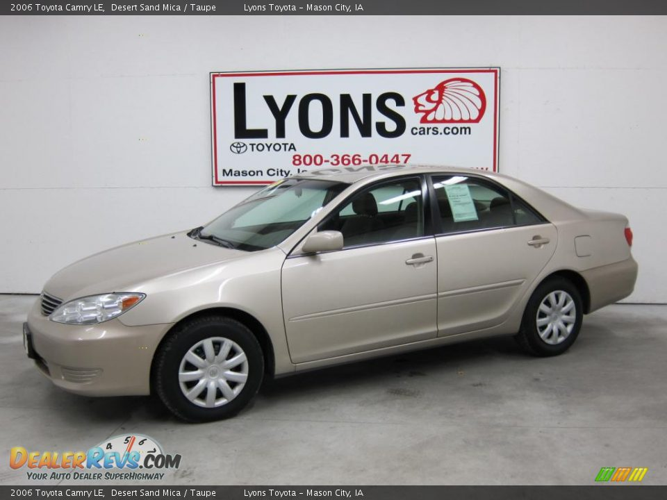 2006 toyota camry le desert sand mica taupe photo 1. Black Bedroom Furniture Sets. Home Design Ideas
