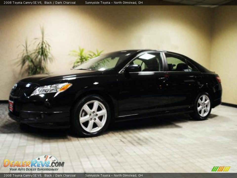 2008 toyota camry se v6 black dark charcoal photo 2. Black Bedroom Furniture Sets. Home Design Ideas