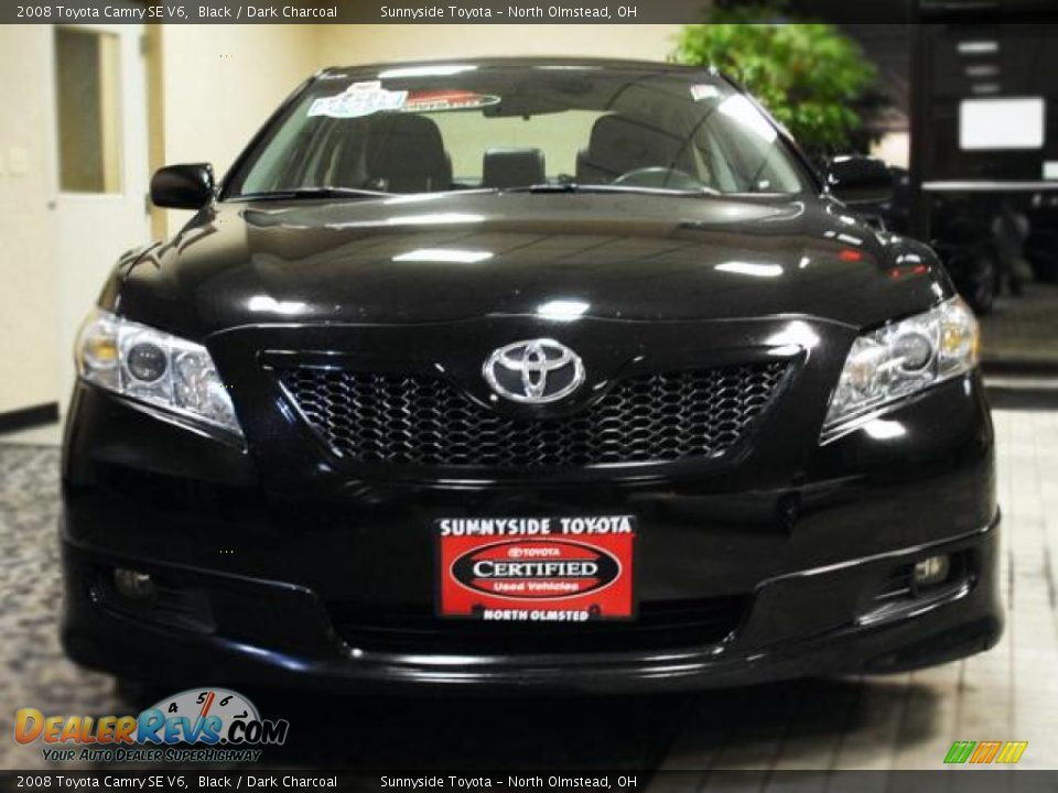 2008 toyota camry se v6 black dark charcoal photo 3. Black Bedroom Furniture Sets. Home Design Ideas