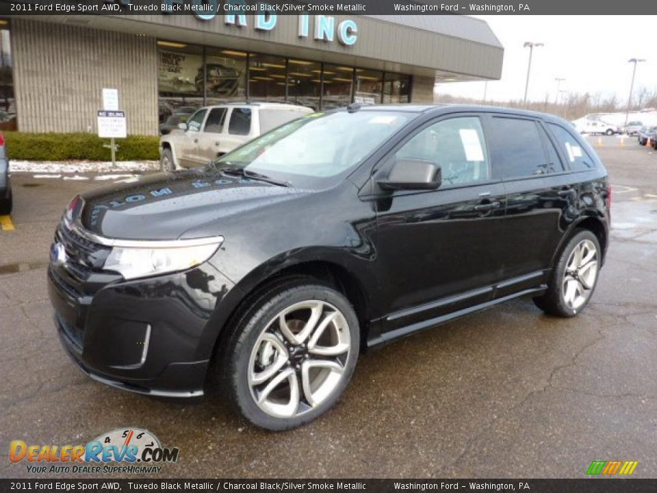 Tuxedo Black Metallic 2011 Ford Edge Sport Awd Photo 8