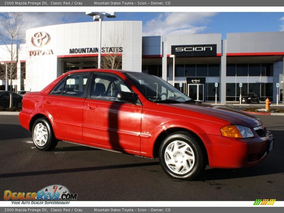 2000 Mazda Protege Dx Classic Red Gray Photo 1