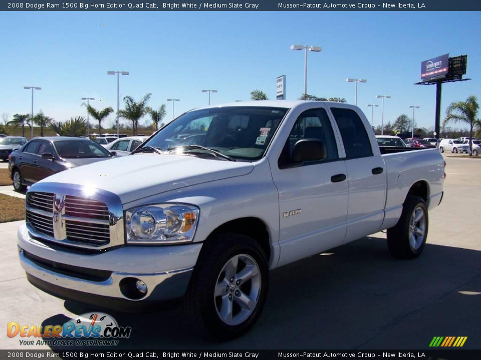 2008 dodge ram 1500 big horn edition quad cab bright white medium slate gray photo 7. Black Bedroom Furniture Sets. Home Design Ideas