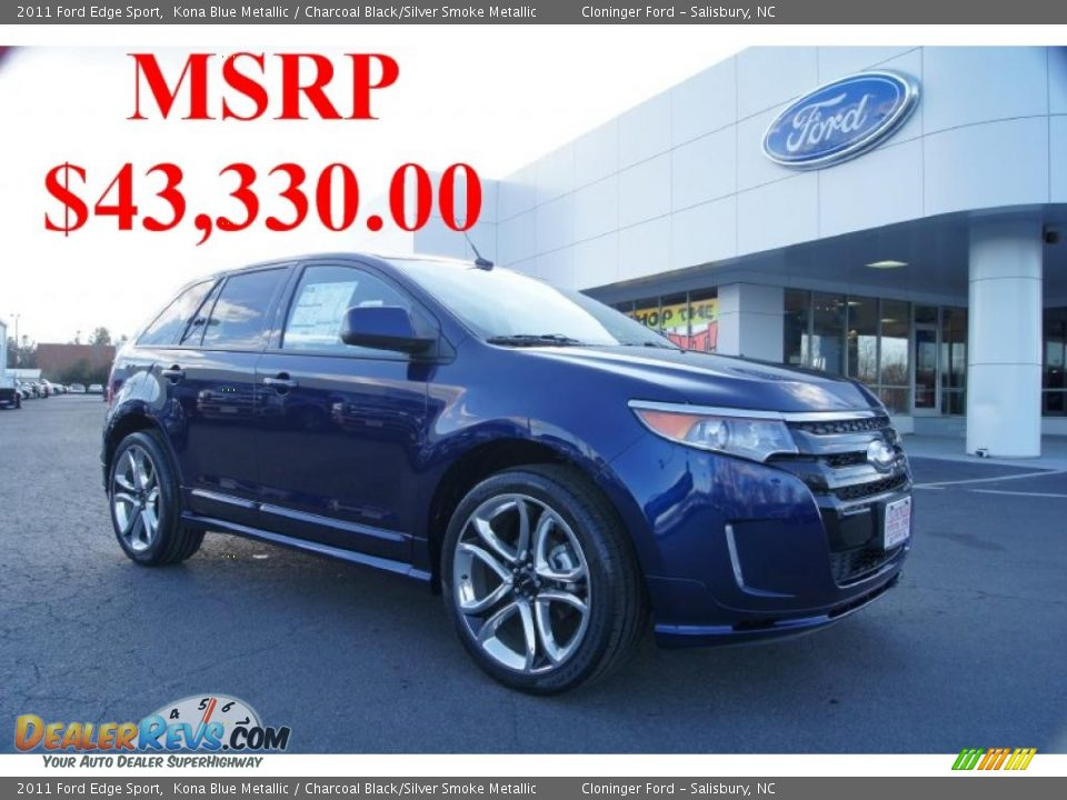 2011 ford edge sport kona blue metallic charcoal black. Black Bedroom Furniture Sets. Home Design Ideas