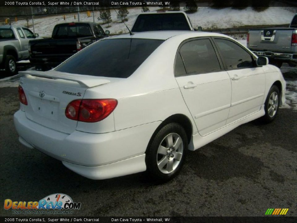 2008 Toyota Corolla S Super White / Dark Charcoal Photo #7 ...
